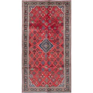 eCarpetGallery Joshagan Red Wool/Cotton Rug (4'10 x 8'9)