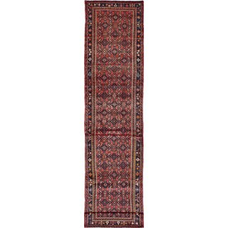 eCarpetGallery Hosseinabad Red Hand-knotted Wool Rug (2'10 x 13'5)