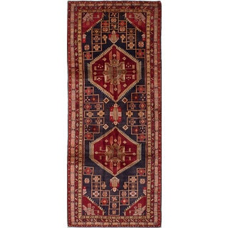 eCarpetGallery Blue Wool/Cotton Hand-knotted Ardabil Rug (4'2 x 10'6)