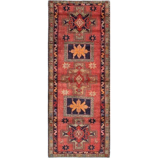 eCarpetGallery Ardabil Red Wool Hand-knotted Rug (4'0 x 10'6)