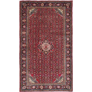 eCarpetGallery Hand-Knotted Zanjan Red Wool Rug (4'3 x 7'4)