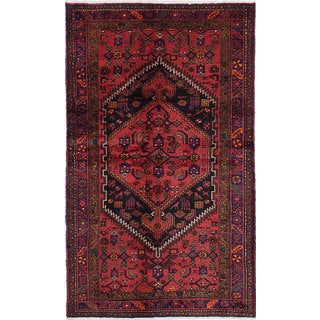 ecarpetgallery Hand-Knotted Touserkan Red Wool Rug (4'5 x 7'5)