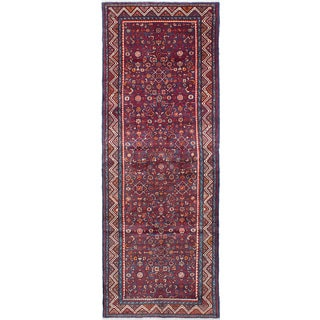 eCarpetGallery Hosseinabad Blue Wool Hand-knotted Rug (3'8 x 10'1)