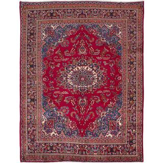 eCarpetGallery Red Wool Hand-knotted Persian Vintage Rug (9'11 x 12'8)