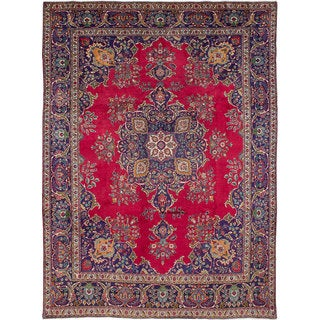 eCarpetGallery Tabriz Red Hand-knotted Wool Rug (9'8 x 13'2)