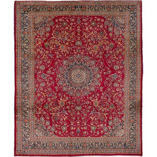 ecarpetgallery Hand-Knotted Kashmar Red Wool Rug (10'1 x 12'6)