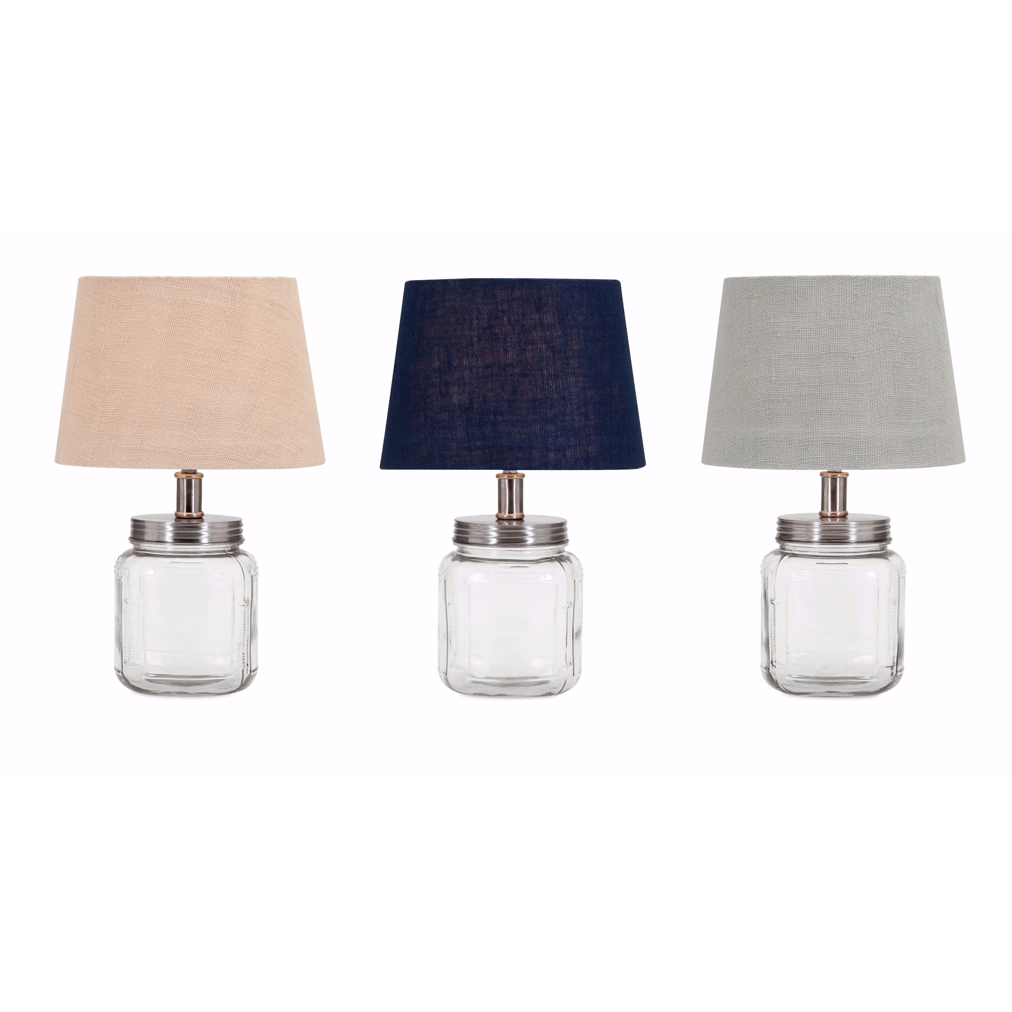 IMAX Ella Elaine Fillable Glass Jar Lamps - Set of 3 (Tab...