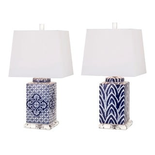 Carolina Hand-painted Ceramic Lamp - Set of 2