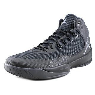 Jordan Men's Rising High 2 Black Leather Mesh Athletic Shoes