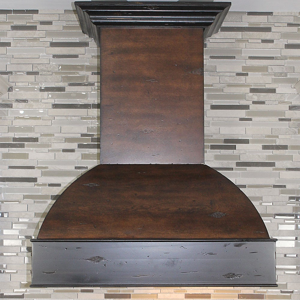 Zline 30 in. 900 CFM Designer Series Wooden Wall Mount Ra...