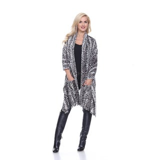White Mark Women's Animal Print Shawl