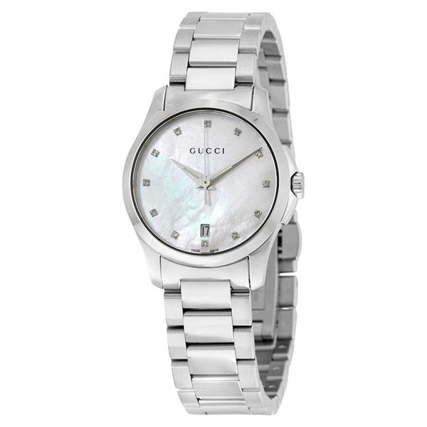 937cfcdb37f Shop Gucci Women s YA126542  G-Timeless  Diamond Stainless Steel ...