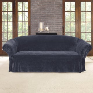 Sure Fit Stretch Plush Cinched Arm Sofa Slipcover