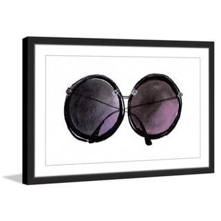 Marmont Hill - 'Black Sunglasses' by Christine Lindstrom Framed Painting Print