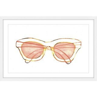 Marmont Hill - 'Peach Sunglasses' by Christine Lindstrom Framed Painting Print