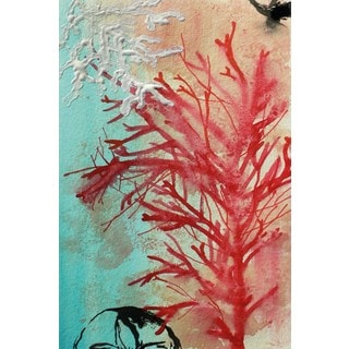 Marmont Hill - 'Red Coral' by Christine Lindstrom Painting Print on Wrapped Canvas
