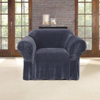Sure Fit Stretch Plush Cinched Arm Chair Slipcover