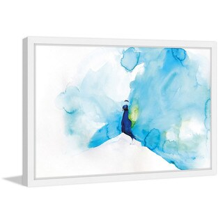 Marmont Hill - 'Peacock Blue' by Christine Lindstrom Framed Painting Print