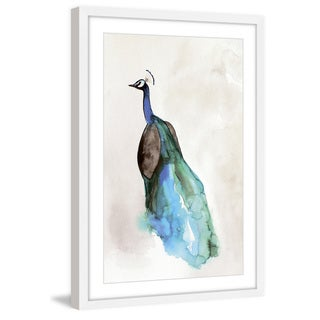 Marmont Hill - 'Peacock Back' by Christine Lindstrom Framed Painting Print