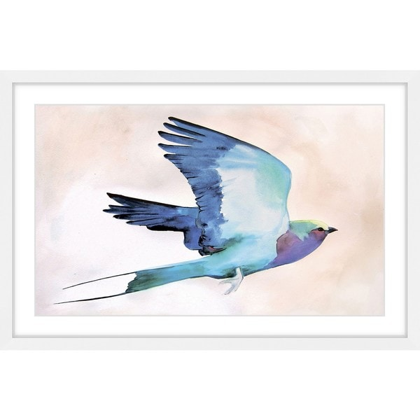 Marmont Hill - 'Lilac Roller' by Christine Lindstrom Framed Painting Print - Multi