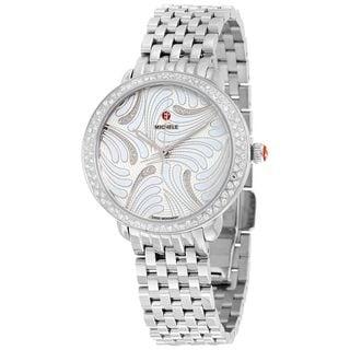 Michele Women's MWW21B000084 'Serein 16' Swan Diamond Stainless Steel Watch
