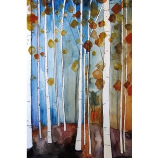 Marmont Hill - 'Autumn Leaves' by Christine Lindstrom Painting Print on Wrapped Canvas