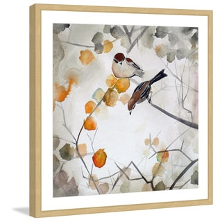 Marmont Hill - 'Fall Birds' by Christine Lindstrom Framed Painting Print