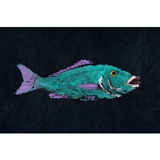 Marmont Hill - 'Hog Lipped Snapper' by Warren Sellers Painting Print on Wrapped Canvas