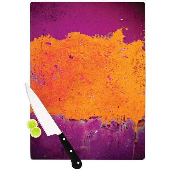Kess Inhouse Iris Lehnhardt Orange Purple Paint Cutting Board Free Shipping Today 13141229