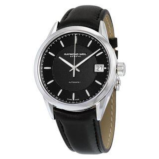 Raymond Weil Men's 2740-STC-20021 'Freelancer' Automatic Black Leather Watch