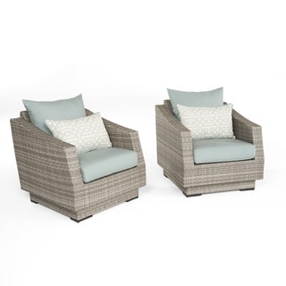 Cannes Club Chairs in Spa Blue by RST Brands