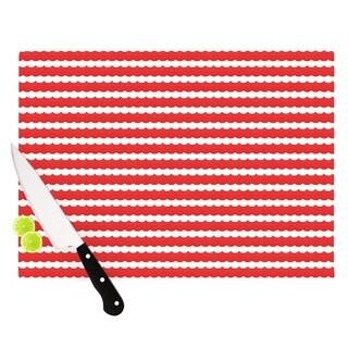 KESS InHouse Heidi Jennings 'Feeling Festive' Red White Cutting Board