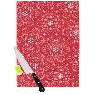 Kess InHouse Heidi Jennings 'Christmas Spirit' Red Cutting Board