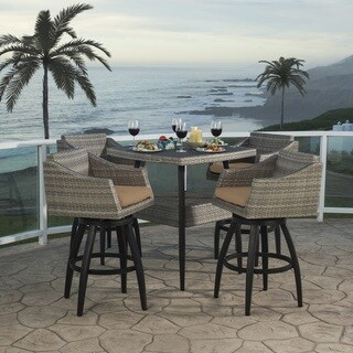 Cannes 5pc Barstool Set in Maxim Beige by RST Brands