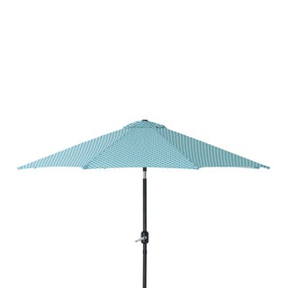 Pillow Perfect Hockley Teal 9-foot Patio Market Umbrella