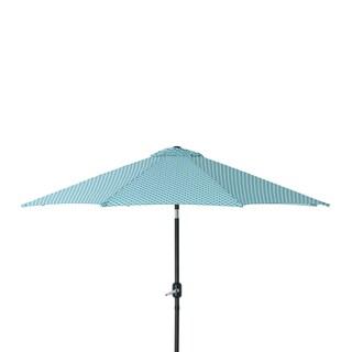 Pillow Perfect Hockley Teal 9-foot Patio Market Umbrella