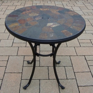 Hometown Black Natural Stone 26-inch Bistro Table