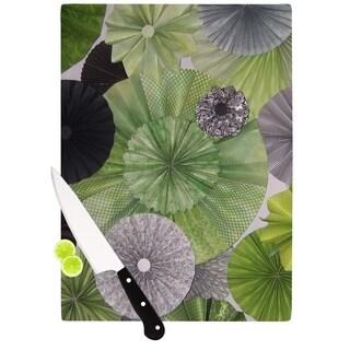 KESS InHouse Heidi Jennings 'Serenity' Green Grey Cutting Board