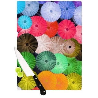 Kess InHouse Heidi Jennings 'Parasol' Paper Circle Cutting Board