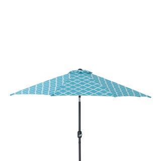 Pillow Perfect Kobette Teal 9 Foot Patio Market Umbrella
