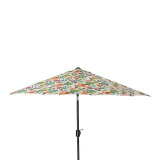 Pillow Perfect Lensing Jungle 9 Foot Patio Market Umbrella