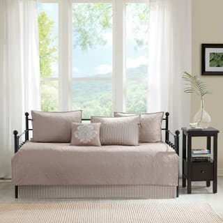 Madison Park Mansfield Khaki Printed 6 Piece Day Bed Cover Set. Daybed Covers For Less   Overstock com