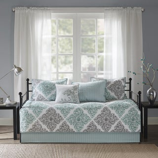 Link to Madison Park Montecito Aqua Printed 6-piece Day Bed Cover Set Similar Items in Daybed Covers & Sets