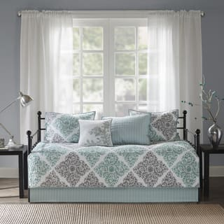 Madison Park Montecito Aqua Printed 6 Piece Day Bed Cover Set|https://ak1.ostkcdn.com/images/products/13141589/P19869810.jpg?impolicy=medium
