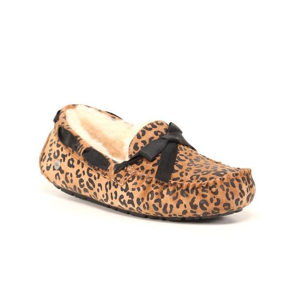 UGG Australia Women's Leopard Bow Dakota Slippers. Opens flyout.