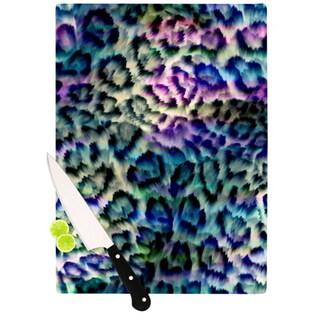 Kess InHouse Gabriela Fuente 'Wild' Multicolored Glass Cutting Board