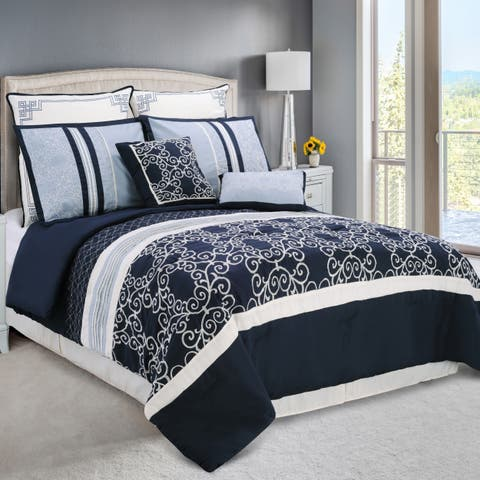 Miranda Haus Clarissa 8 Piece Embroidered Comforter Set