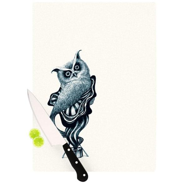 Kess InHouse Graham Curran 'Owl' Cutting Board