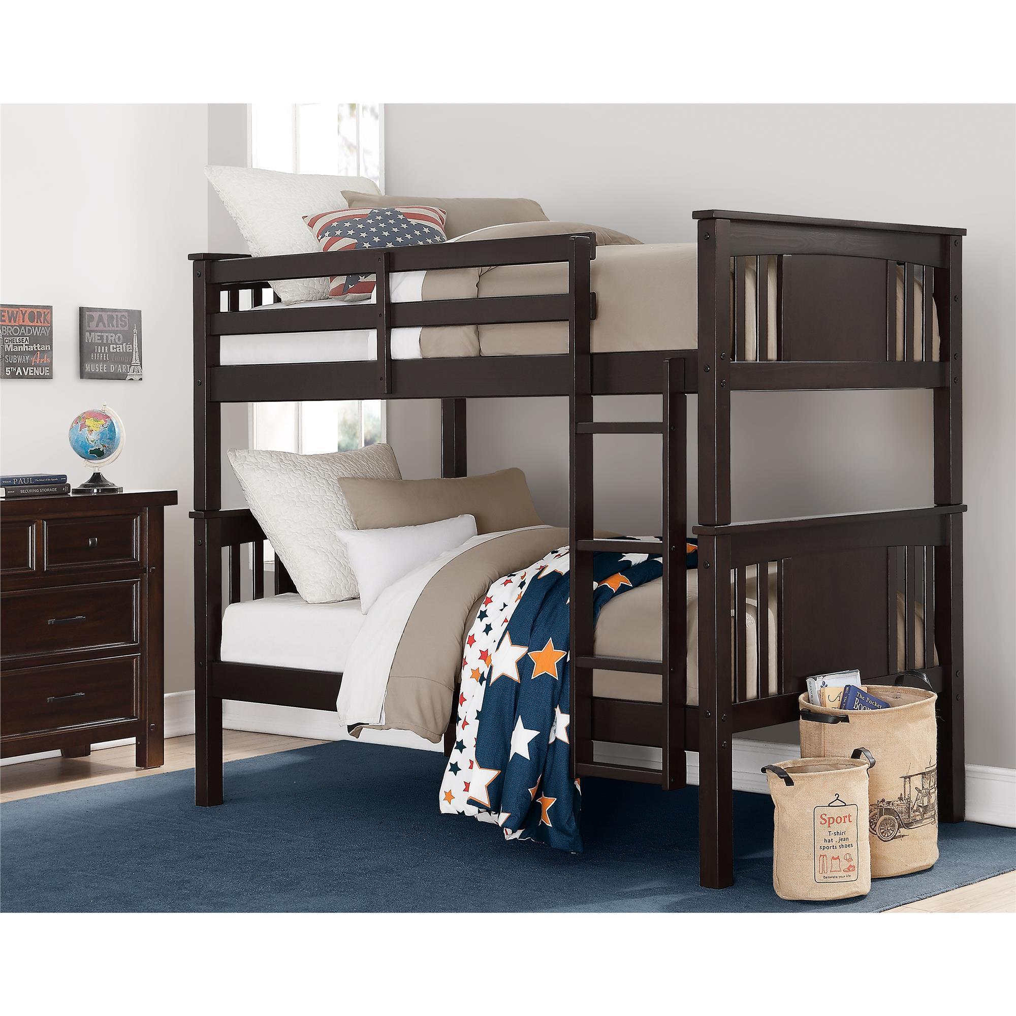 Dorel Living Dylan Twin Bunk Bed (Espresso - Espresso Fin...