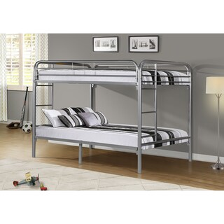 Donco Kids Full over Full Modern Metal Bunk Bed in Black or Silver Finish